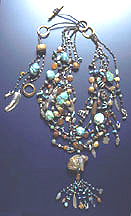 Zuni Bear Treasure Necklace