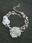 Amethyst Rosette Necklace