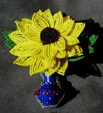 Sunflower Vessel Pin