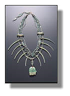 Amazonite Medicine Bear Necklace