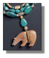 Dolomite Medicine Bear Necklace