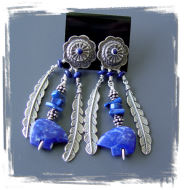 Lapis Bear Earrings