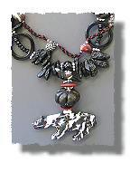 Cougar with Tektites Necklace