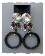 Black Ring Earrings