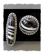 Black and White Agate Earrings