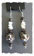 Brown Kitty Earrings