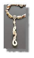 Fossil Ivory Rattlesnake Necklace