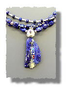 Lapis Corn Maiden Necklace
