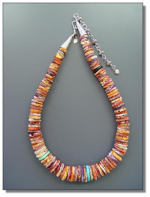 Spiny Oyster | Spiny Oyster Beads | Orange and Purple Spiny Oyster