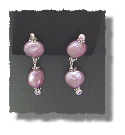 Pink Coin Pearl Earrings