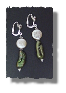 Japanese Beetle & Moon Earrings