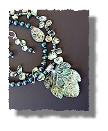 Abalone Leaf Necklace