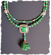 Malachite Bear Necklace