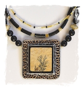 Dendritic Limestone Necklace