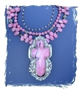 Rhodonite Cross Set