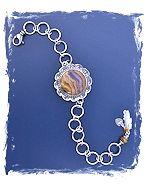 Golden Lace Agate Bracelet