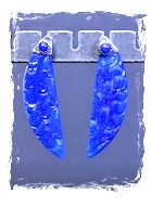 Lapis Glass Earrings