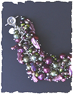 Green and Pink Pearl Bracelet
