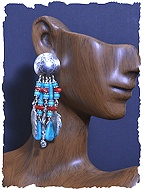 Native American Pipe Earrings
