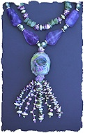Fluorite and Pearls Set