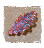 Agate Leaf Brooch
