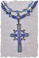 Vintage Russian Cross Necklace